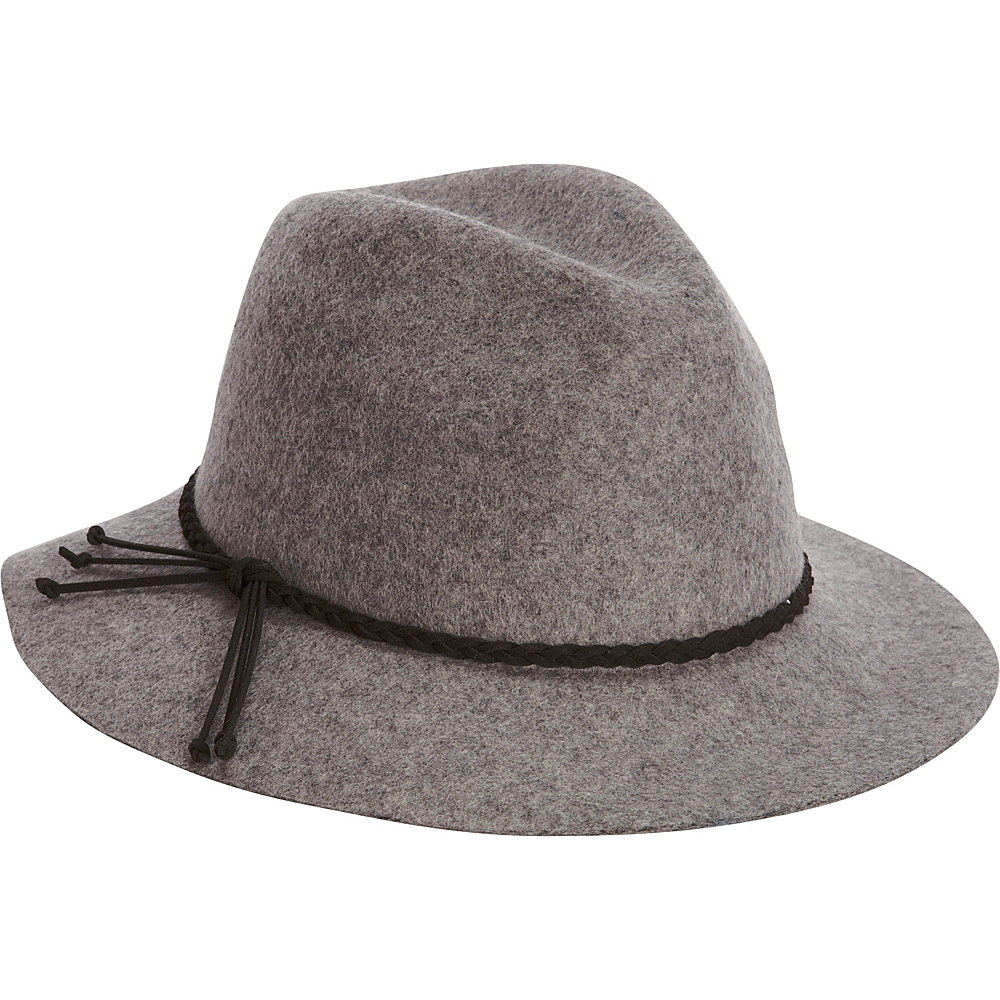 Adora Hats Wool Felt Safari Hat Grey Adora Hats Hats Gloves Scarves