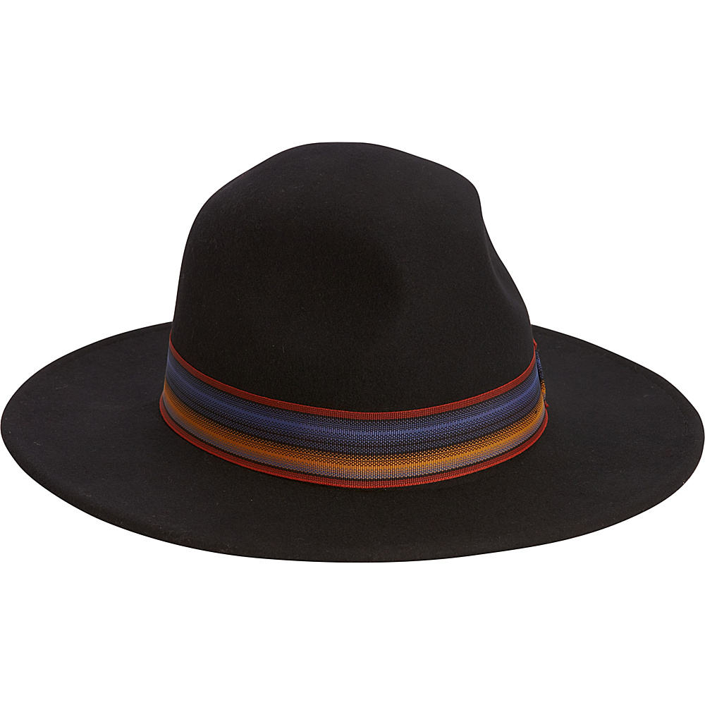 Adora Hats Wool Felt Safari Hat Black Adora Hats Hats Gloves Scarves