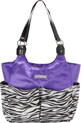 Smart Mommy Bags Purple Passion Diaper Bag Purple Black and White - Smart Mommy Bags Diaper Bags & Accessories