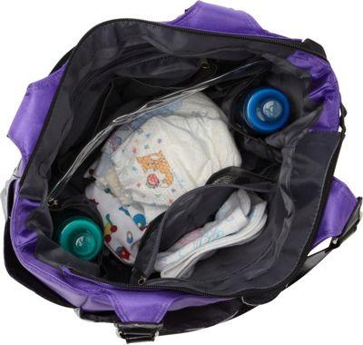 Smart Mommy Bags Purple Passion Diaper Bag Purple Black and White - Smart Mommy Bags Diaper Bags & Accessories