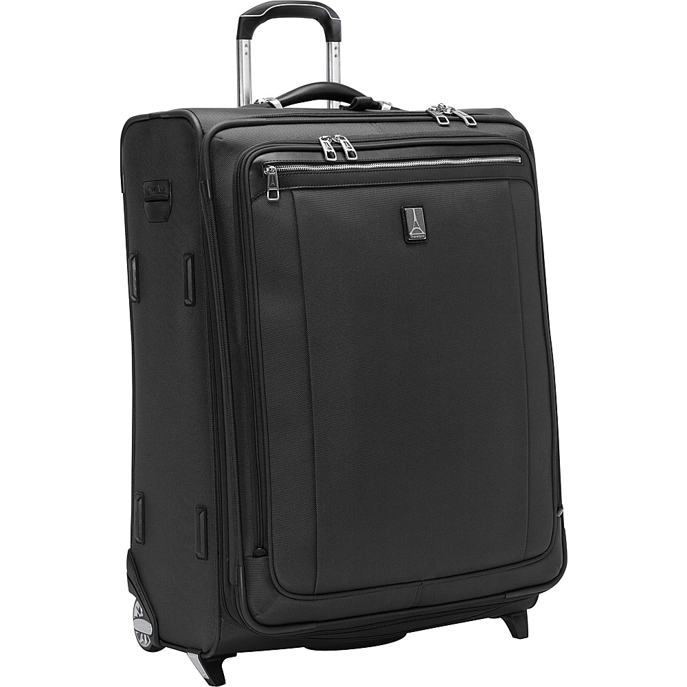 "Travelpro Platinum Magna 2 26"" Expandable Rollaboard Black - Travelpro Softside Checked"