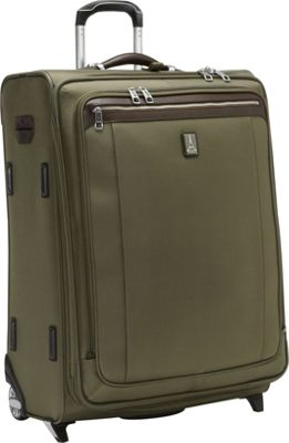 Travelpro Platinum Magna 2 26 inch Expandable Rollaboard Olive - Travelpro Softside Checked