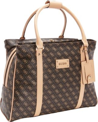 GUESS Travel Logo Affair Deluxe Shopper Tote Brown - GUESS Travel Luggage Totes and Satchels