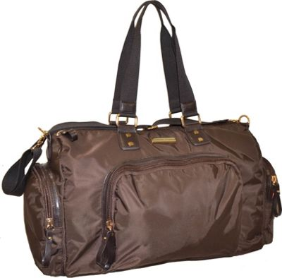 "Image of Adrienne Vittadini 18"" Duffle Bag Brown - Adrienne Vittadini Travel Duffels"