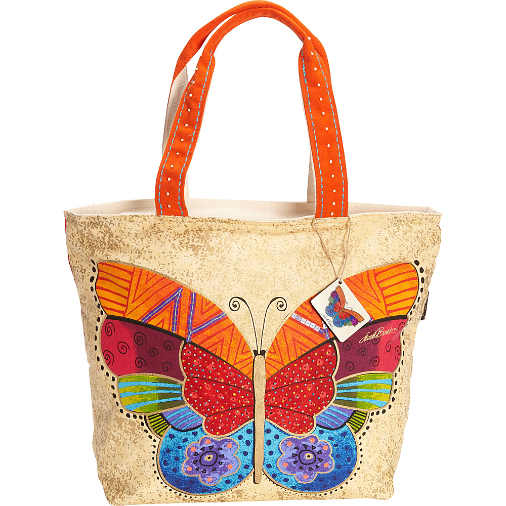Laurel Burch Flutterbye Shoulder Tote Multi Laurel Burch Fabric Handbags