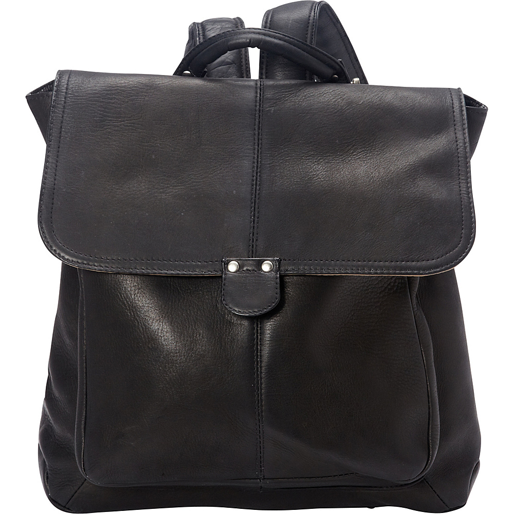 Le Donne Leather Saddle Backpack Black - Le Donne Leather Leather Handbags - Handbags, Leather Handbags