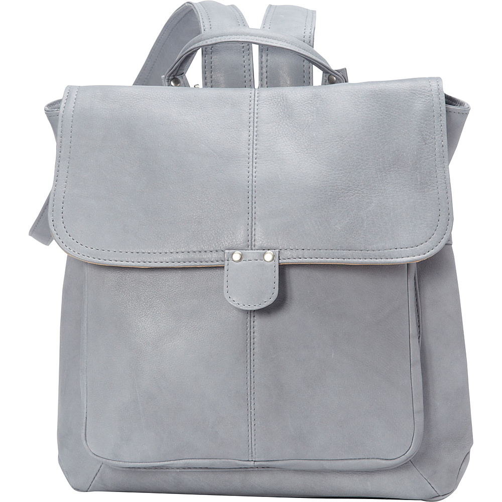 Le Donne Leather Saddle Backpack Gray - Le Donne Leather Leather Handbags - Handbags, Leather Handbags