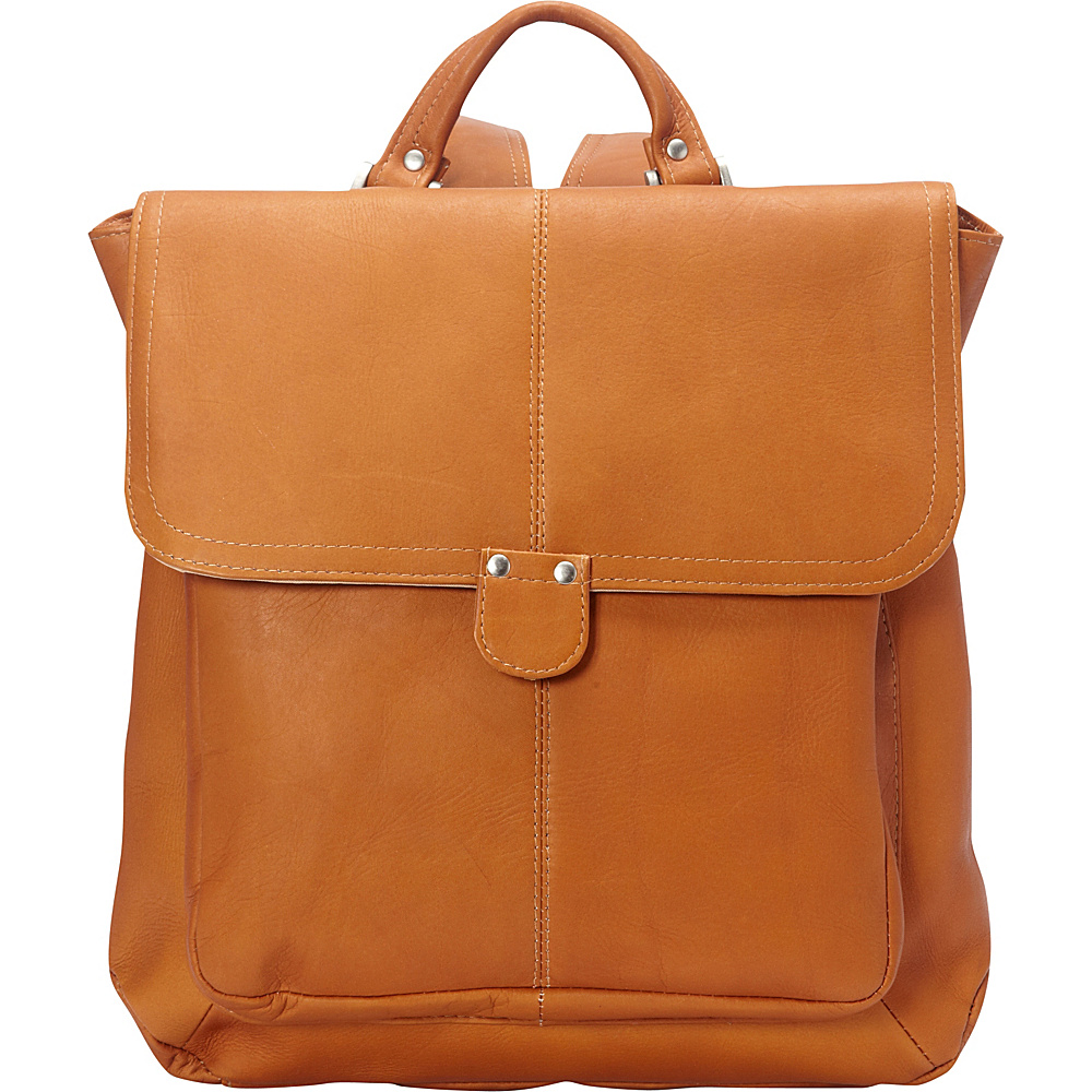 Le Donne Leather Saddle Backpack Tan - Le Donne Leather Leather Handbags - Handbags, Leather Handbags