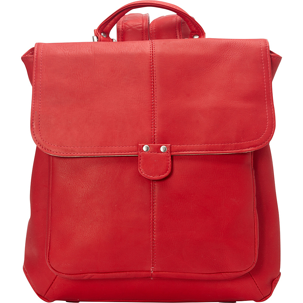Le Donne Leather Saddle Backpack Red - Le Donne Leather Leather Handbags - Handbags, Leather Handbags