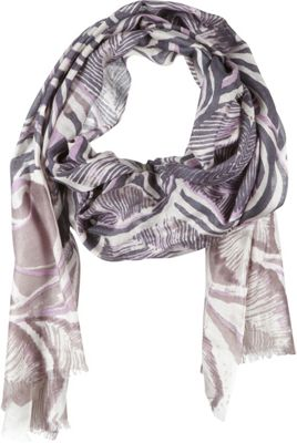 Kinross Cashmere Feather Paisley Print Scarf Doeskin Multi - Kinross Cashmere Scarves