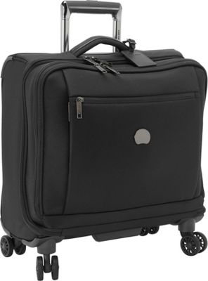 Delsey Montmartre+ Spinner Trolley Tote Black - Delsey Softside Carry-On