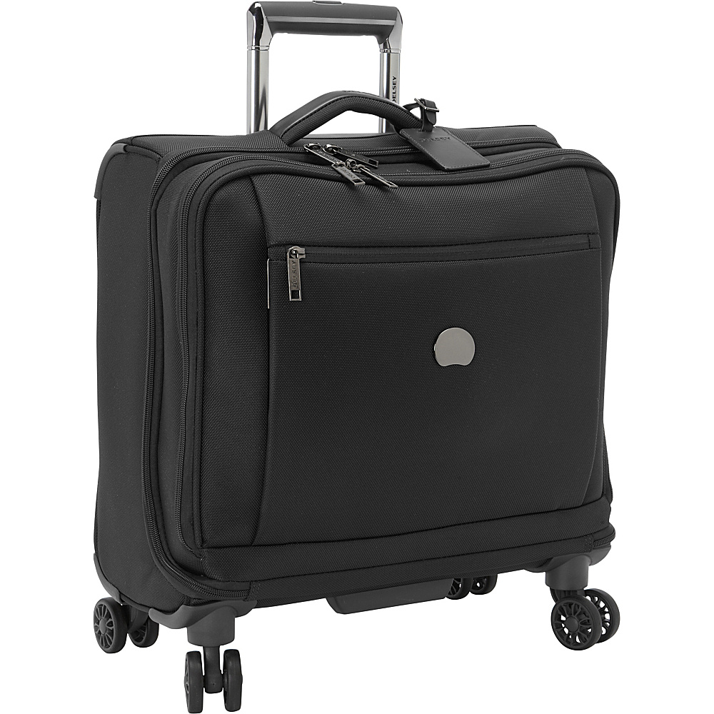 Delsey Montmartre Spinner Trolley Tote Black Delsey Softside Carry On