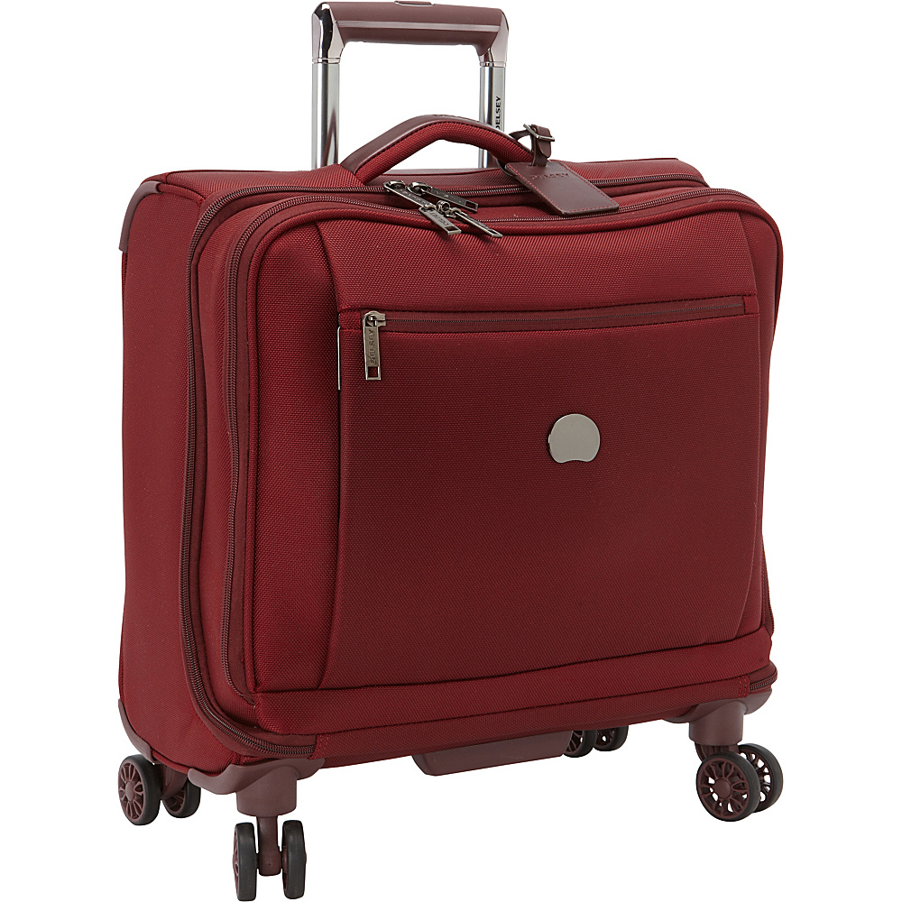 Delsey Montmartre Spinner Trolley Tote Bordeaux Delsey Softside Carry On
