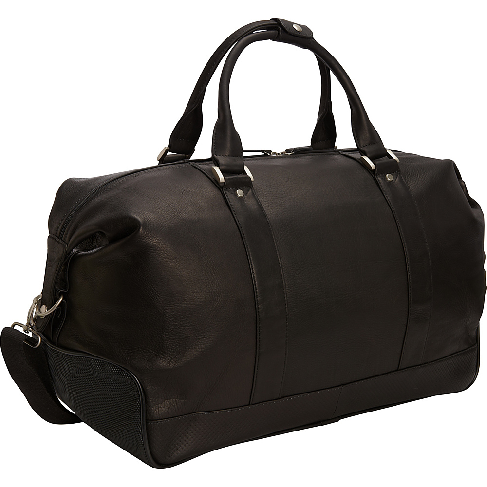 Bellino Eiffel Leather Duffle Black Bellino Travel Duffels