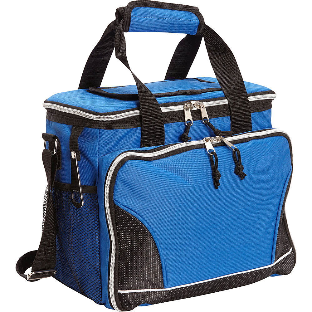 Bellino 24 Pack Cooler with Tray Blue - Bellino Travel Coolers