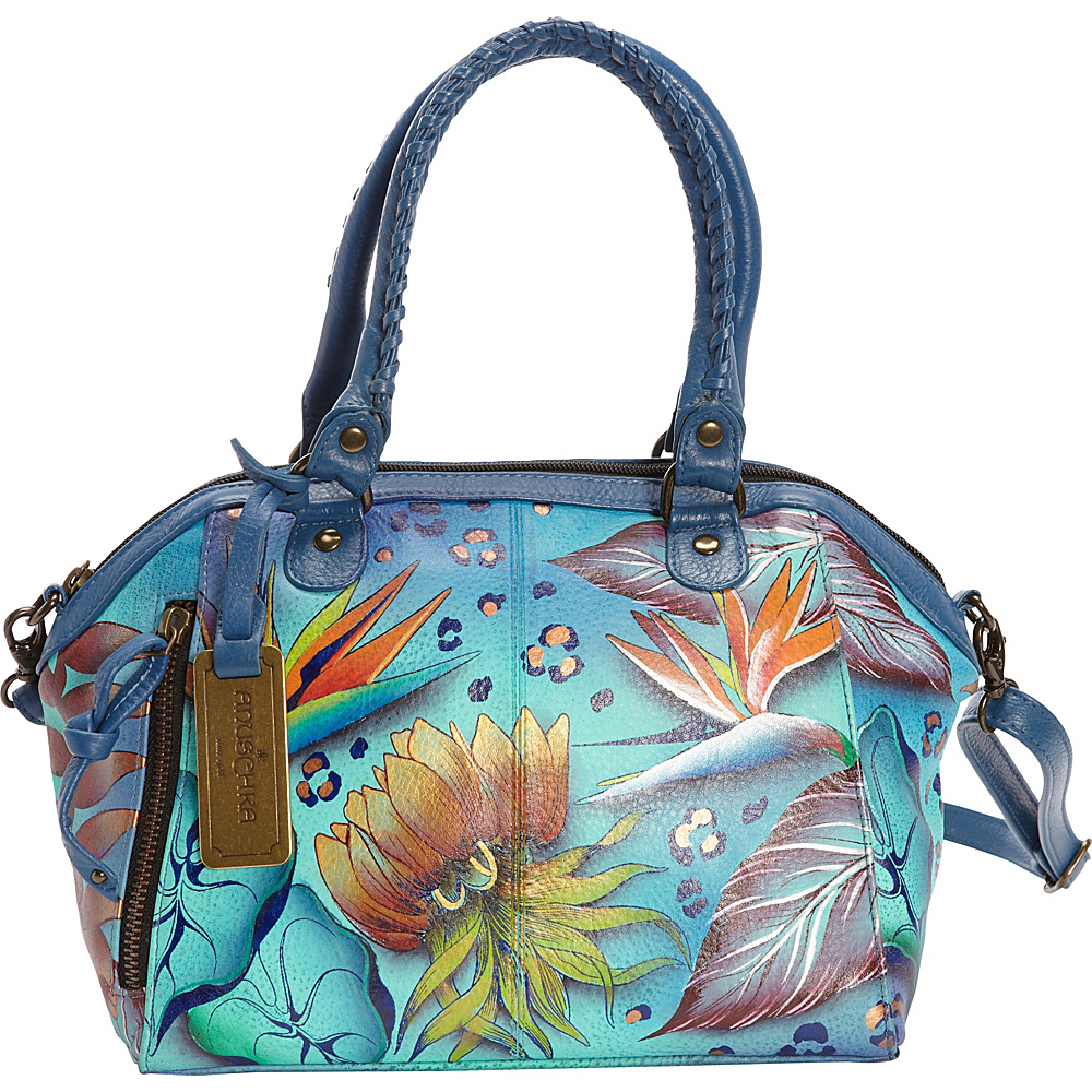 Anuschka Hand Painted Mini Convertible Tote Tropical Dream - Anuschka Leather Handbags
