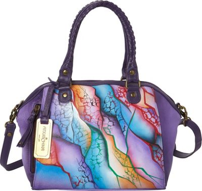 Anuschka Hand Painted Mini Convertible Tote Cosmic Quest - Anuschka Leather Handbags