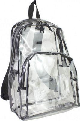 Eastsport Clear Backpack Black - Eastsport Everyday Backp...