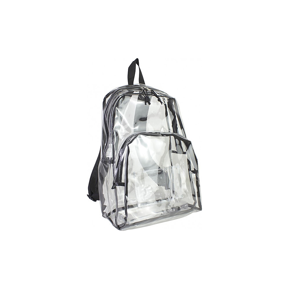 Eastsport Clear Backpack Black Eastsport Everyday Backpacks