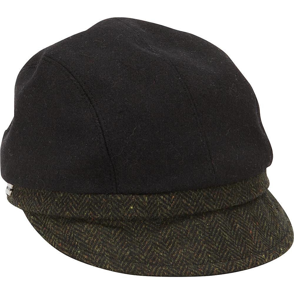 Betmar New York Maureen Wool Blend Jockey Cap One Size - Black - Betmar New York Hats/Gloves/Scarves
