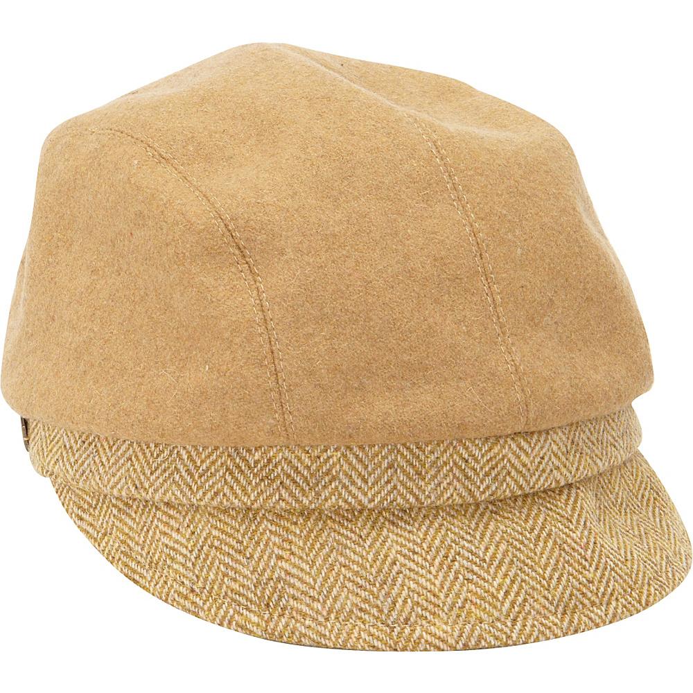 Betmar New York Maureen Wool Blend Jockey Cap One Size - Camel - Betmar New York Hats/Gloves/Scarves