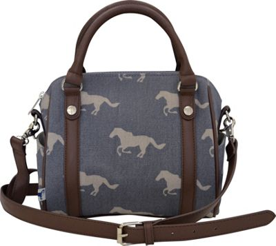 Sloane Ranger Mini Satchel Grey Horse - Sloane Ranger Fabric Handbags