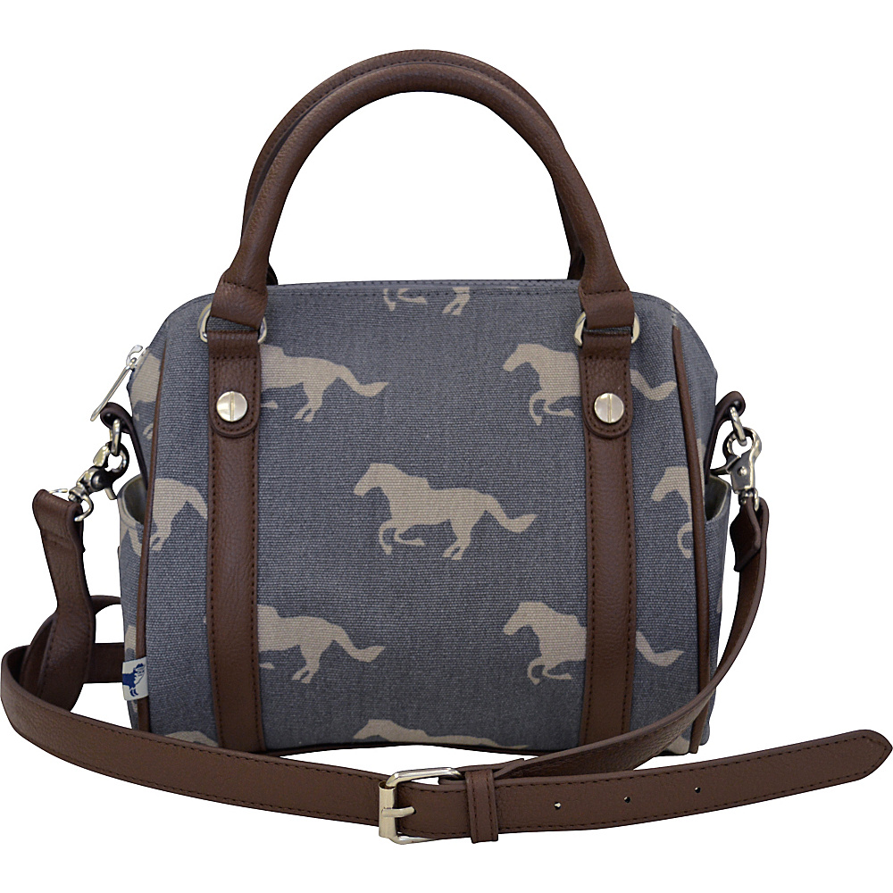 Sloane Ranger Mini Satchel Grey Horse Sloane Ranger Fabric Handbags