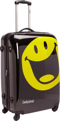 Smiley 30 inch Smiley Happy World Spinner Black - Smiley Hardside Checked