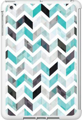 Centon Electronics OTM Glossy White iPad Mini Case Ziggy Collection - Aqua - Centon Electronics Electronic Cases