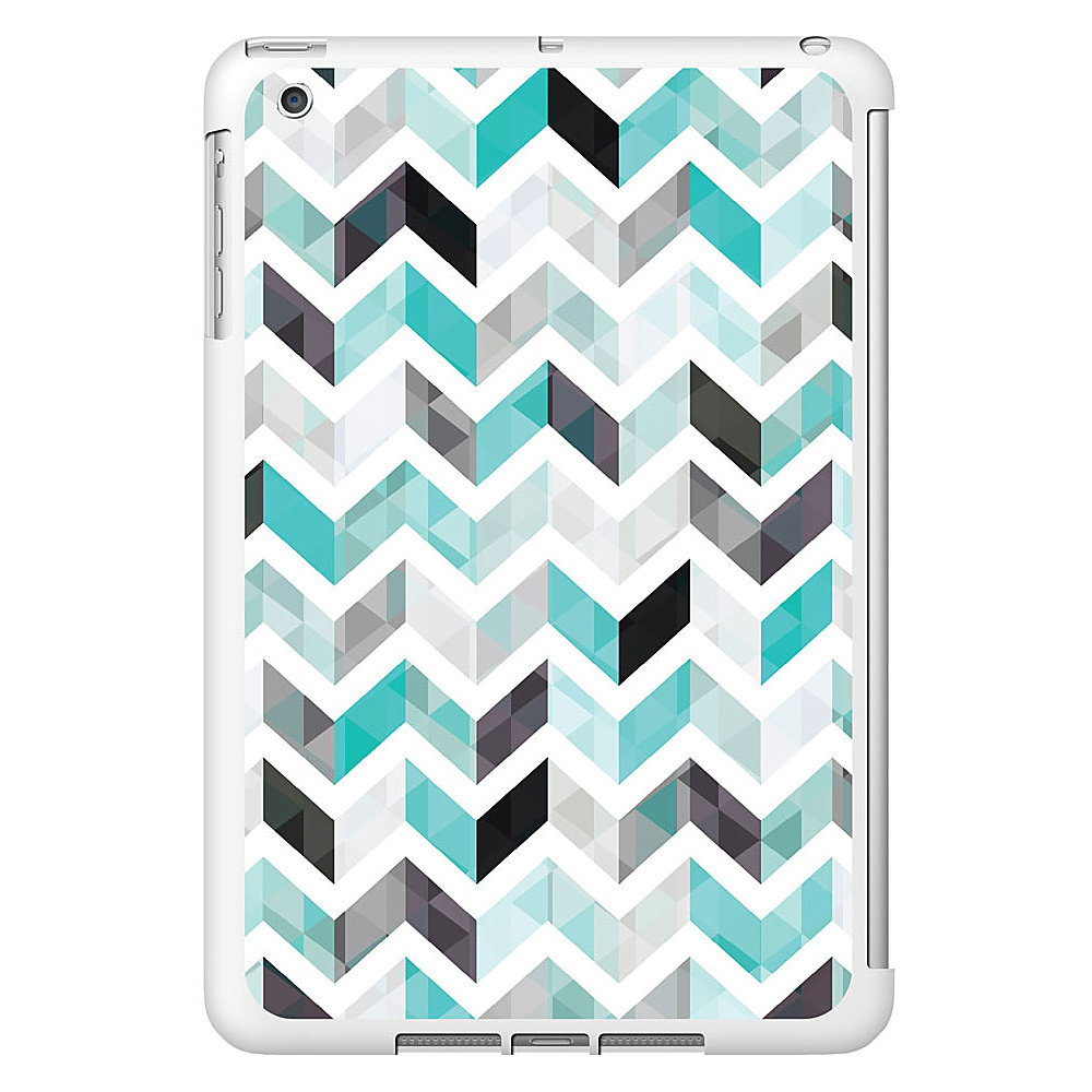 Centon Electronics OTM Glossy White iPad Mini Case Ziggy Collection Aqua Centon Electronics Electronic Cases