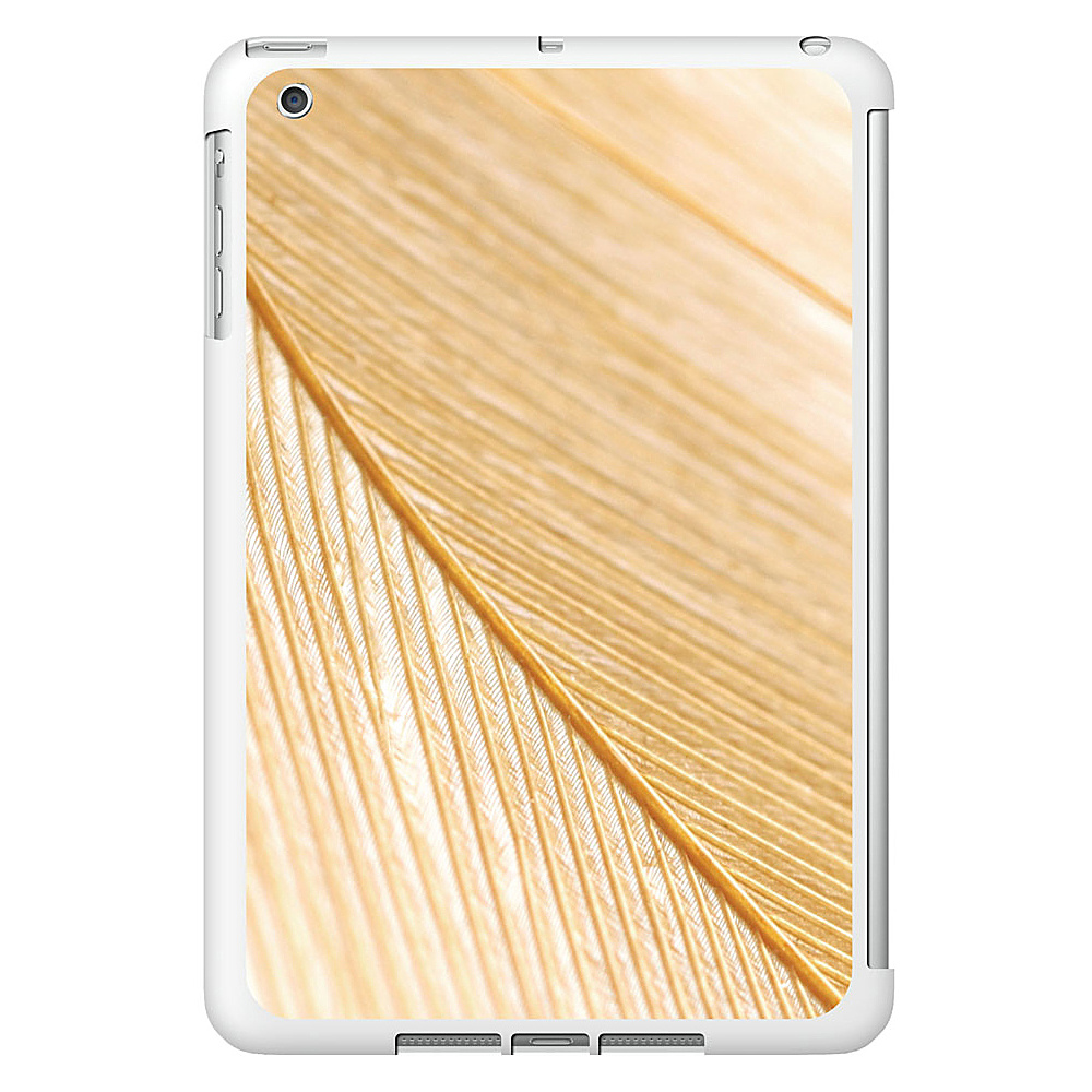 Centon Electronics OTM Glossy White iPad Mini Case Feather Collection Gold Centon Electronics Electronic Cases