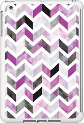 Centon Electronics OTM Glossy White iPad Mini Case Ziggy Collection - Purple - Centon Electronics Electronic Cases