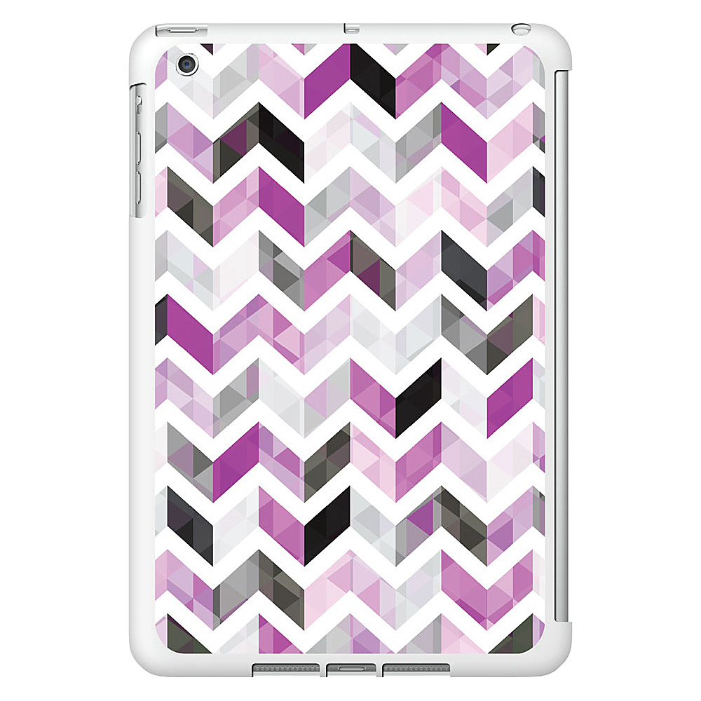 Centon Electronics OTM Glossy White iPad Mini Case Ziggy Collection Purple Centon Electronics Electronic Cases