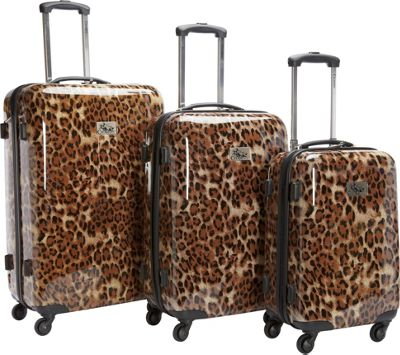 Chariot Luggage 3Pc Spinner Set Leopard - Chariot Luggage Sets