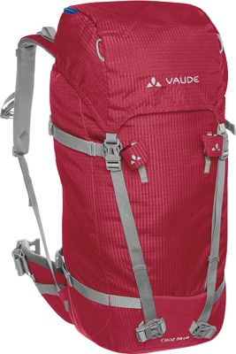 Vaude Croz 38 + 8 Pack Red - Vaude Day Hiking Backpacks