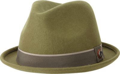 Ben Sherman Melton Wool Fedora S/M - Burnt Olive - Large/Extra Large - Ben Sherman Hats/Gloves/Scarves