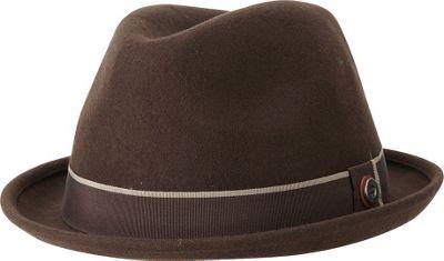 Ben Sherman Melton Wool Fedora Coffee - Small/Medium - Ben Sherman Hats/Gloves/Scarves