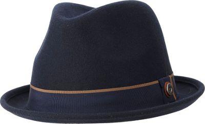 Ben Sherman Melton Wool Fedora S/M - Jet Black - Ben Sherman Hats/Gloves/Scarves