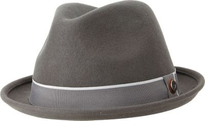 Ben Sherman Melton Wool Fedora S/M - Smoked Pearl - Ben Sherman Hats/Gloves/Scarves
