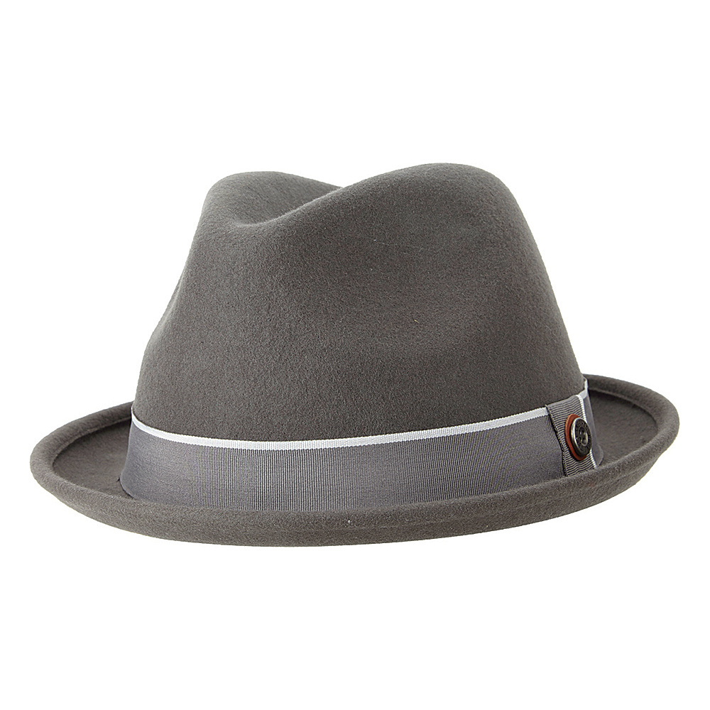 Ben Sherman Melton Wool Fedora Smoked Pearl - Small/Medium - Ben Sherman Hats/Gloves/Scarves