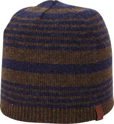 Ben Sherman Striped Knit Beanie Coffee - Ben Sherman Hats 10383433