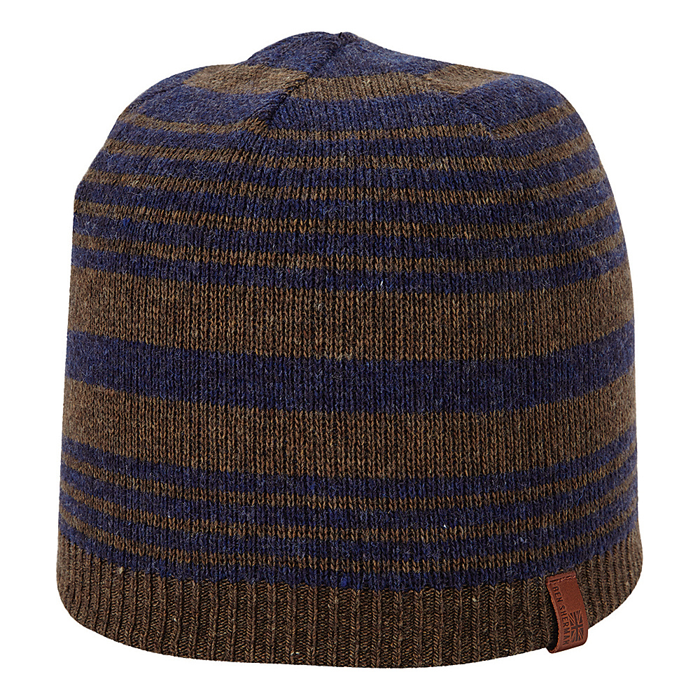 Ben Sherman Striped Knit Beanie Coffee Ben Sherman Hats Gloves Scarves