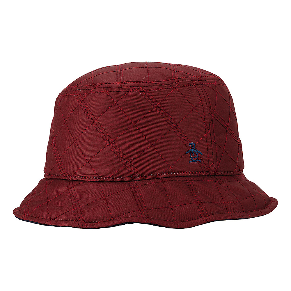 Original Penguin Dale Bucket Hat Rosewood Small Medium Original Penguin Hats Gloves Scarves