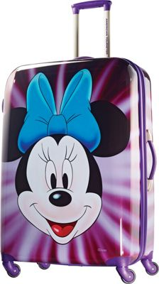 American Tourister Disney Minnie Mouse Hardside Spinner 28 inch Minnie Mouse Face - American Tourister Hardside Checked