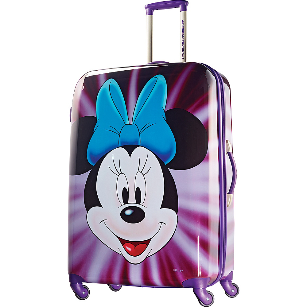 American Tourister Disney Minnie Mouse Hardside Spinner 28 Minnie Mouse Face American Tourister Hardside Checked