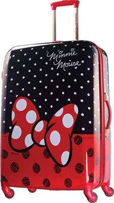 American Tourister Disney Minnie Mouse Hardside Spinner 28 inch Minnie Mouse Red Bow - American Tourister Hardside Checked