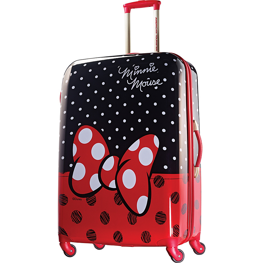 "American Tourister Disney Minnie Mouse Hardside Spinner 28"" Minnie Mouse Red Bow - American Tourister Hardside Checked"