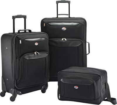 Image of American Tourister Brookfield 3pc Set Black - American Tourister Luggage Sets