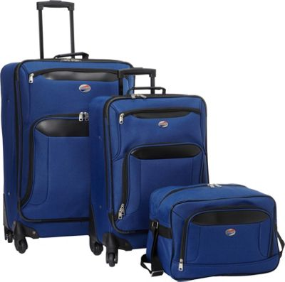 American Tourister Brookfield 3pc Set Navy/Black - American Tourister Luggage Sets