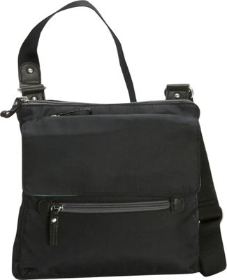 Osgoode Marley Flapped Crossbody Black - Osgoode Marley Fabric Handbags